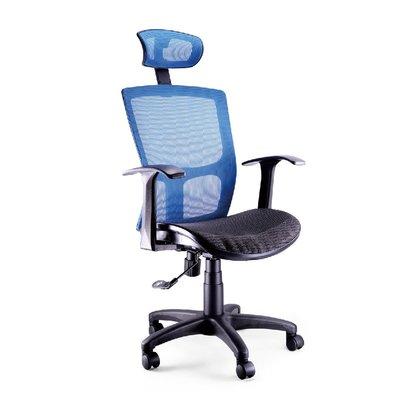 螞蟻雄兵 LV-821 網布辦公椅(藍色款) 電腦椅 職員椅 會議椅 電競椅 透氣 人體工學 頭枕 辦公桌椅 椅子