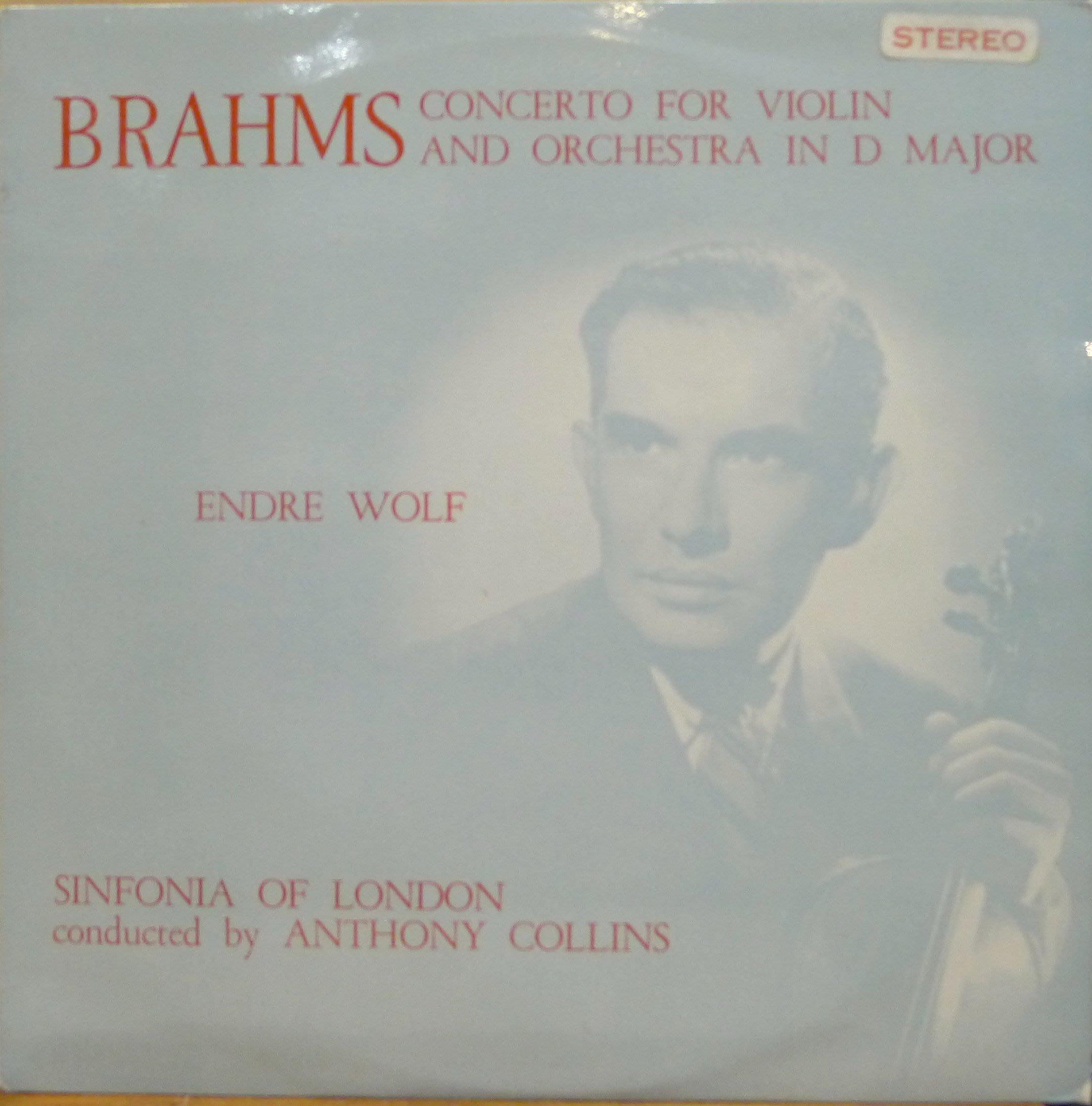 §小宋唱片§WORLDRECORDCLUB英版/布拉姆斯:小提琴協奏曲/Endre Wolf/二手古典黑膠