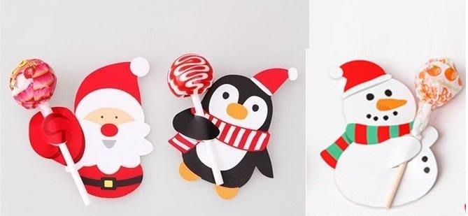 可麗兒美妝~聖誕節棒棒糖包裝 糖果裝飾 裝飾紙卡 道具 公司活動贈品 節慶禮品小禮物 補習班 幼稚園小朋友分享禮