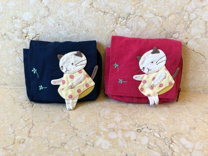 日本卡拉貓~幸運草小貓隨身化妝包