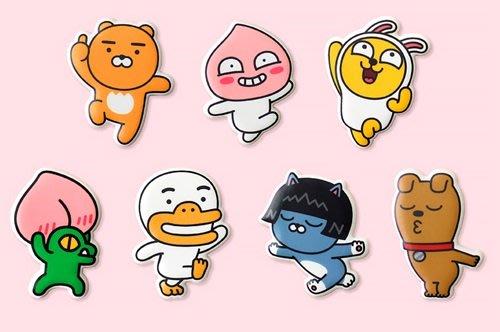 ♀高麗妹♀韓國 KAKAO FRIENDS BIG STICKER 動起來 多用途/行李箱設計 泡泡棉PVC貼紙(現貨)
