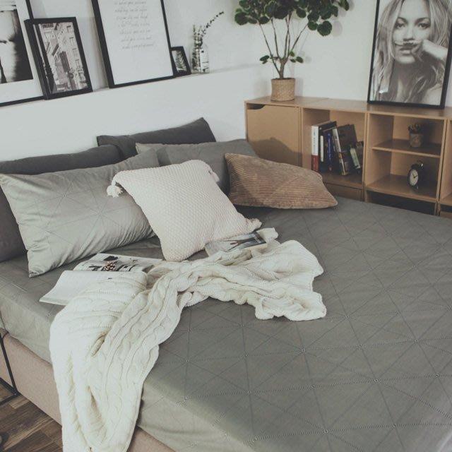 MIT精梳棉-床包枕套組/單人3.5尺【艾維斯-灰】絲薇諾
