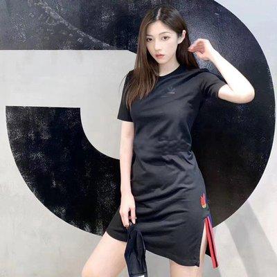 【Dr.Shoes】Adidas Originals Adicolor 3D 愛迪達 黑色 洋裝 短袖 GD2233