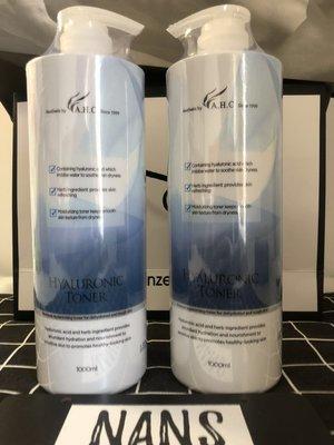 現貨出 韓國 A.H.C AHC 玻尿酸保濕化妝水1000mlB5化妝水 神仙水 大容量  默認發2020最新透明包裝