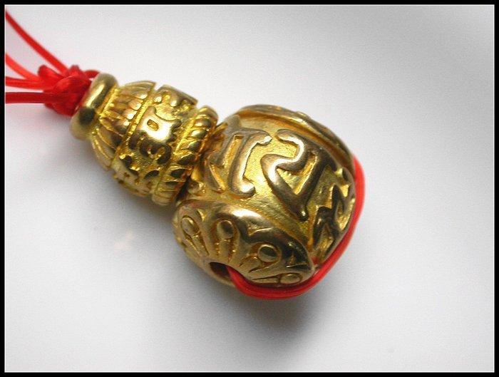 【雅之賞|藏傳|佛教文物】 *特賣*藏式 六字明咒 15mm 三通佛頭~Q951
