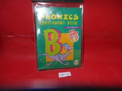 【愛悅二手書坊 06-13】PHONICS ENRICHMENT BOOK   (3冊合售/內附光碟)