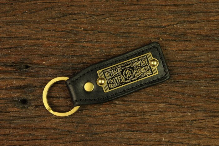 GOODFORIT / 台灣飾品品牌METALIZE黃銅標籤皮革鑰匙圈