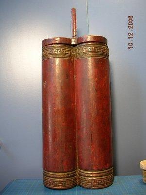 【準提坊】早期竹木香筒 底至木蓋高度320MM