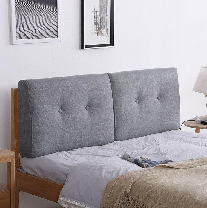 ART。DECO  北歐床頭片軟包床頭墊亞麻布藝床頭片靠墊 灰色床頭片 可依尺寸訂製多色可選