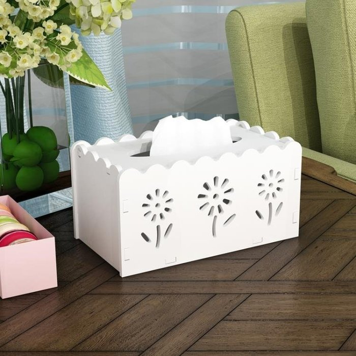 家用紙巾抽盒子時尚臥室創意紙巾盒客廳歐式餐巾紙盒可愛抽紙盒