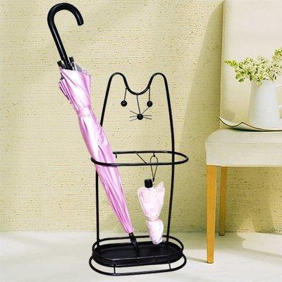 歐式鐵藝家用酒店大堂雨傘架收納架雨傘桶放傘桶招財貓傘架雨具架WY