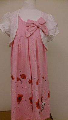 百事特史奴比粉色氣質系洋裝
