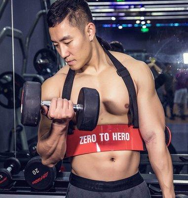 二頭肌訓練板啞鈴杠鈴健身房器材二頭肌架手臂訓練器彎舉板