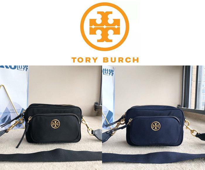 小皮美國代購 Tory burch TB 新款女士迷你尼龍包 金屬logo裝飾單肩斜挎包 簡約時尚 附購證