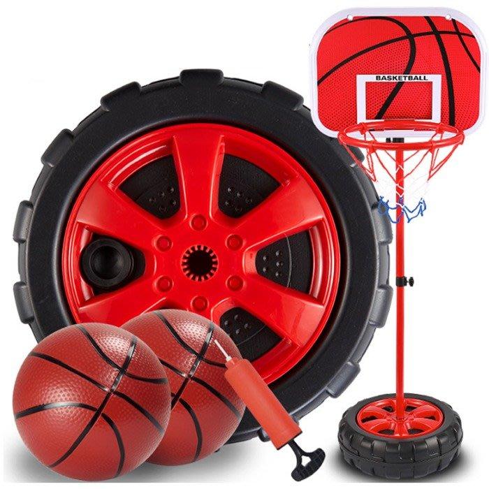 5Cgo【樂趣購】575854379172 兒童室內運動可升降高低充氣籃球架幼稚園投籃運動玩具寶寶投籃框3-6歲1.3米