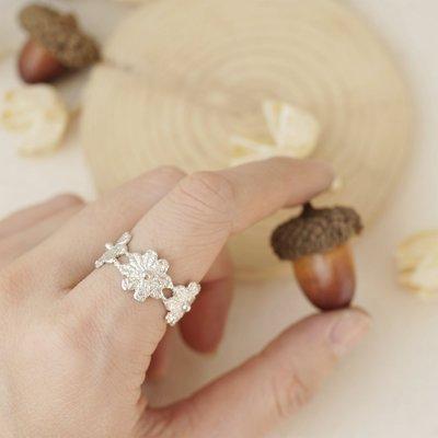 [ Cami Handicraft ] 花之精靈蕾絲戒 - 純銀款 客製化手作商品 浪漫秀氣女性風格 特殊紋路與眾不同