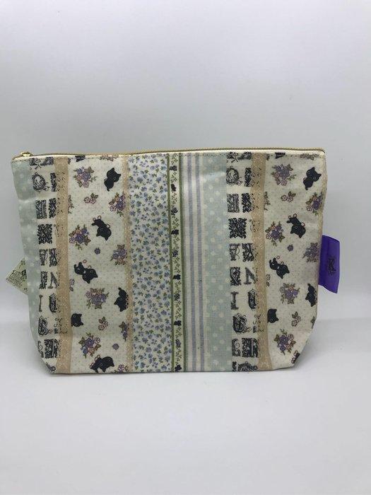 *凱西小舖*日本進口正版SAN-X靴下貓/襪子貓小碎花 和風風格 收納包 筆袋