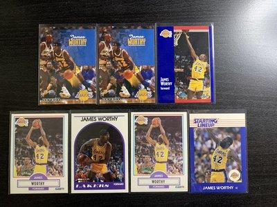James Worthy Fleer Skybox NBA Hoops 籃球卡一共7張