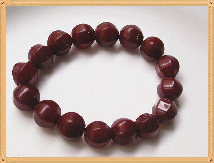 【雅之賞|藏傳|佛教文物】*特賣* 六稜老紅玉髓12mm手珠~Q613