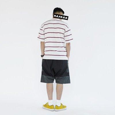 《限時促銷》日系復古拼接撞色工裝短褲寬鬆直筒休閒褲五分褲