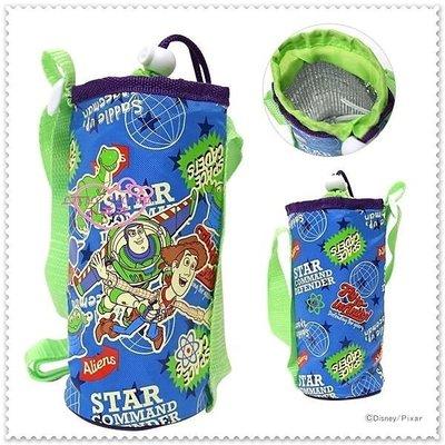 小公主日本精品 Hello Kitty 玩具總動員巴斯光年/胡迪牛仔水壺揹帶水壺袋60101808