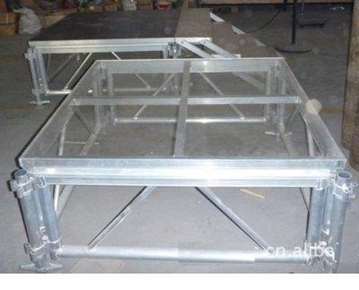 TRUSS 鋼化玻璃透明舞台1.22mX1.22m (4尺x4尺)每塊60公斤可承重700公斤