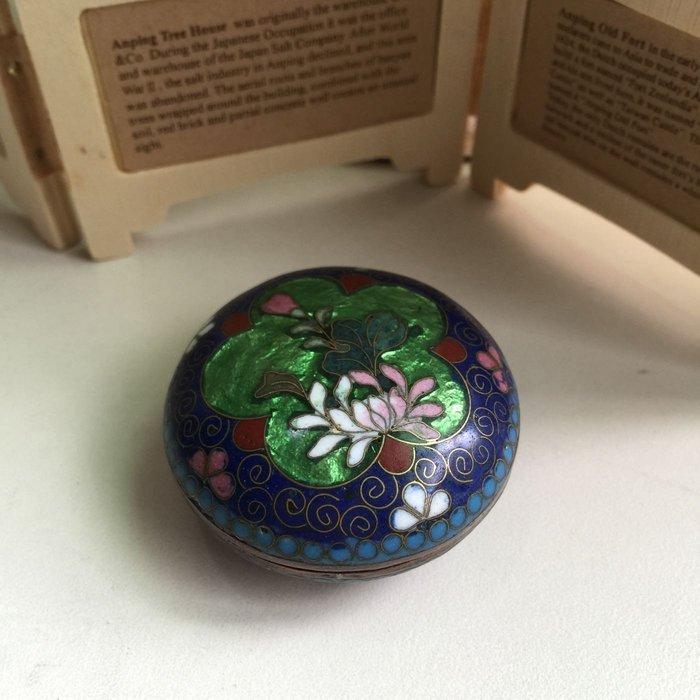 老珍藏 景泰藍掐絲琺瑯盒 擺飾收藏