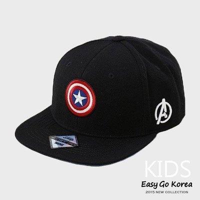 【Easy GO 韓國潮牌代購】DISNEY x MARVEL - 美國隊長盾牌刺繡圖案 KIDS 兒童款棒球帽