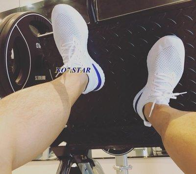 NIKE EPIC REACT FLYKNIT 灰白 白藍 雪花 編織 襪套 慢跑 男女鞋 AQ0067-100