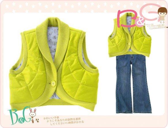 【B& G童裝】正品美國進口Crazy8小花圖樣青綠色鋪棉背心外套M號6-8yrs