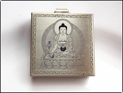【雅之賞|藏傳|佛教文物】特賣*手工製作 藥師佛純銅嘎嗚~303243 (附桑耶寺降魔寶印金剛結)
