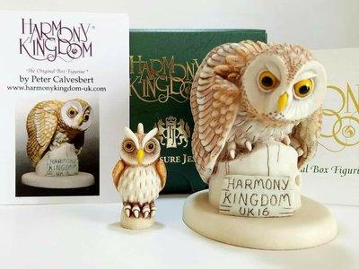 英國 限量 貓頭鷹 灰林鴞 雕像 擺飾 首飾盒 收藏 禮品 Harmony Kingdom