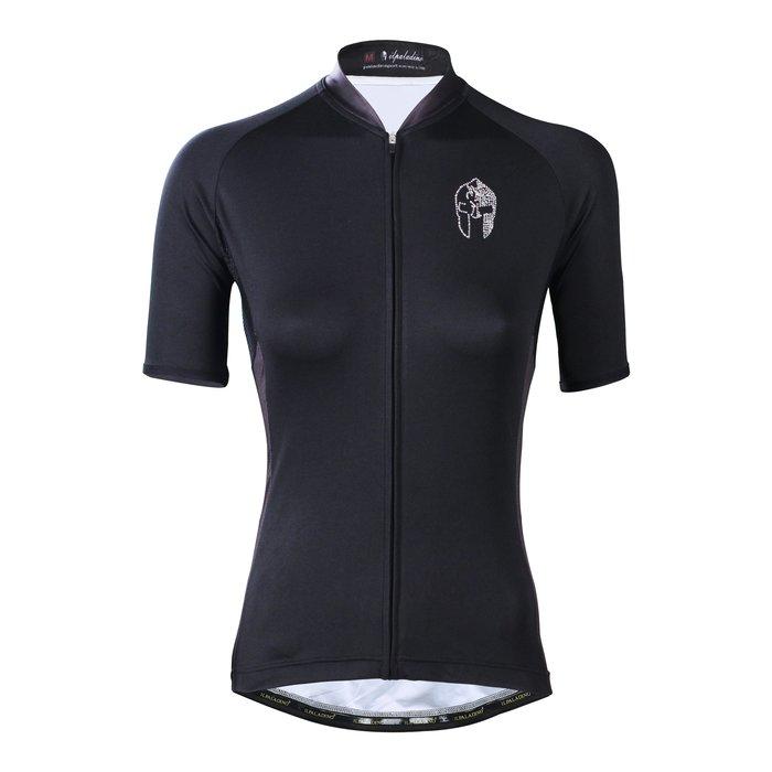 水鑽系列【ILPALADINO】競技型女士短袖車衣 :: 黑白