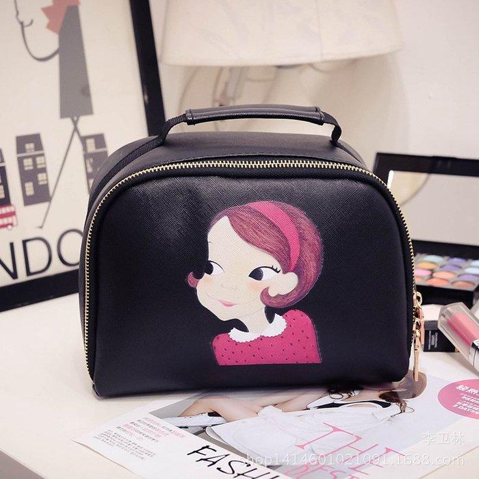 小美女手提化妝包 化妝箱 收納包 飾品包 行李箱