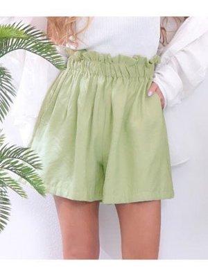 日牌 ANAP 薄荷綠 荷葉邊 彈性收腰 休閒短褲 全新吊牌未剪