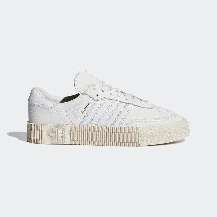 【Cheers】 Adidas ORIGINALS  Sambarose 女鞋 增高 全白 白粉 粉紅粉底 B28167
