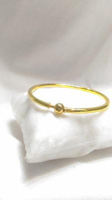 【Dreaming Jewelry】純金9999  潘朵拉-黃金硬手環 現貨3.33錢重 含運可刷卡分12期0利率