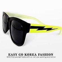 【Easy GO 韓國潮牌代購】SAKUN - 螢光黃閃電鏡架 中性太陽眼鏡/墨鏡 (現貨)