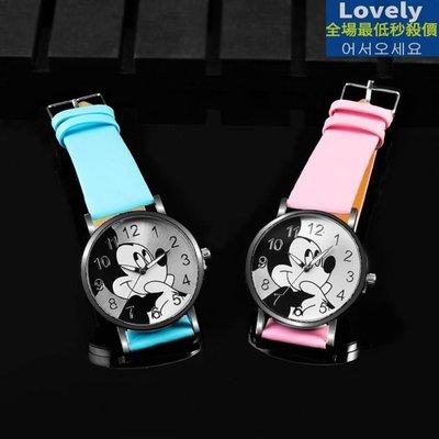 超可愛迪士尼卡通米老鼠手錶 米奇手錶 兒童卡通石英腕錶 Lovely  正韓私人定制
