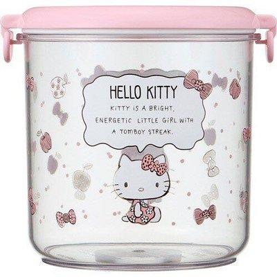 【PINK】 Hello Kitty 粉紅色蓋子密封保存容器/ 糖果零食餅乾收納/ 茶葉咖啡罐/ 密封盒(粉紅色 800ml) 桃園市