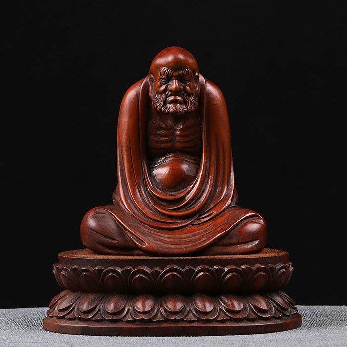 【睿智精品】達摩袓師 木雕擺件 達摩悟道 法像莊嚴 黃楊木(GA-5123)