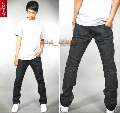 【深黑藍磨洗皺褶28-38腰】美國LEVI S RED 511 SKINNY 重磅彈性窄管小直筒牛仔褲501