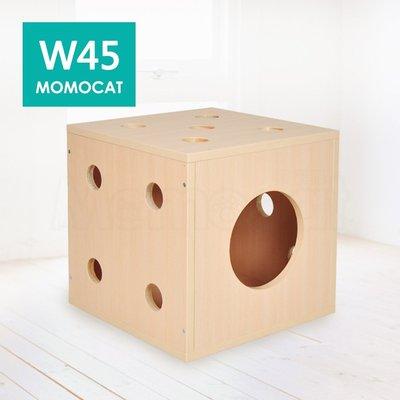 訂做✪W45骰子貓屋✪手工木製 貓窩 坐椅 骰子屋 木屋 貓箱 椅子 洞洞樂 木箱 穿鞋椅 木椅【MOMOCAT摸摸貓】