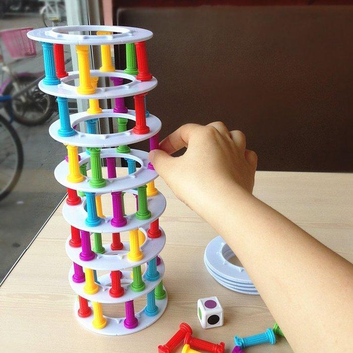 比薩塔疊疊高 平衡益智玩具 手眼協調 親子互動 趣味桌遊 層層疊_☆優購好SoGood☆