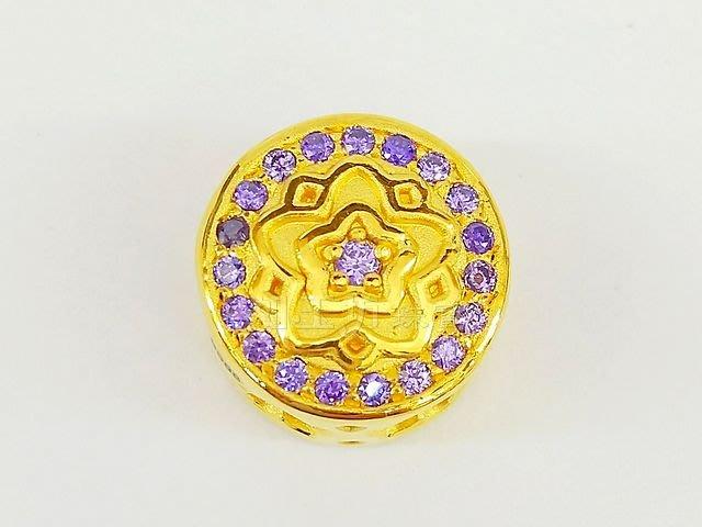 如玉坊珠寶  硬金紫水晶星星串珠   黃金串珠  AG&