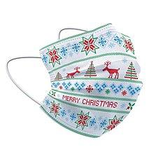 一次性口罩現貨50只裝新款聖誕節系列三層防護成人兒童口罩親子裝95+熔噴佈
