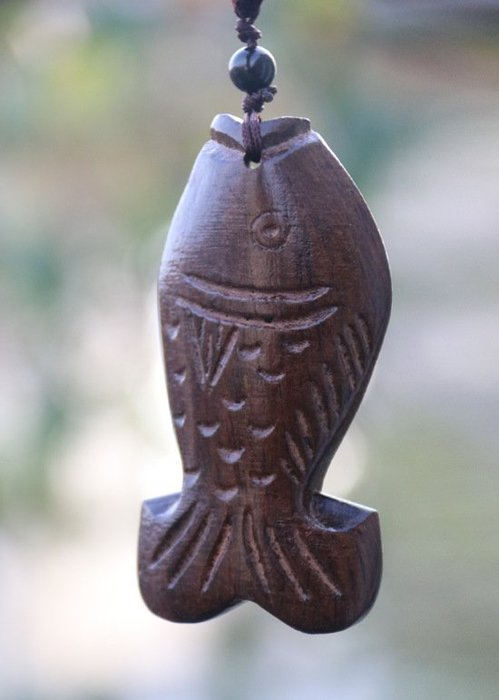 (老銀屋)中國風/中國結手工雕刻木魚項鍊