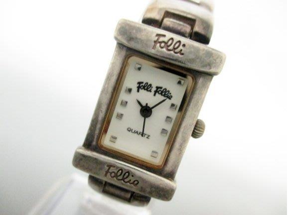 FolliFollie 女錶 100%真品~正925銀鍊帶