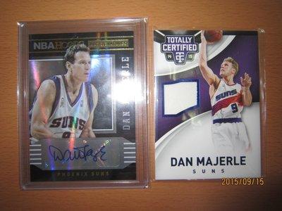 網拍讀賣~Dan Majerle~退休球星~三分射手~簽名卡~auto~限量球衣卡/199~普特卡~共2張~350元~