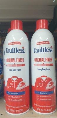 新包裝 美國faultless衣物助燙劑567g/瓶~清香 頁面是單瓶價 製造日2020/1/7 未開封保存5年